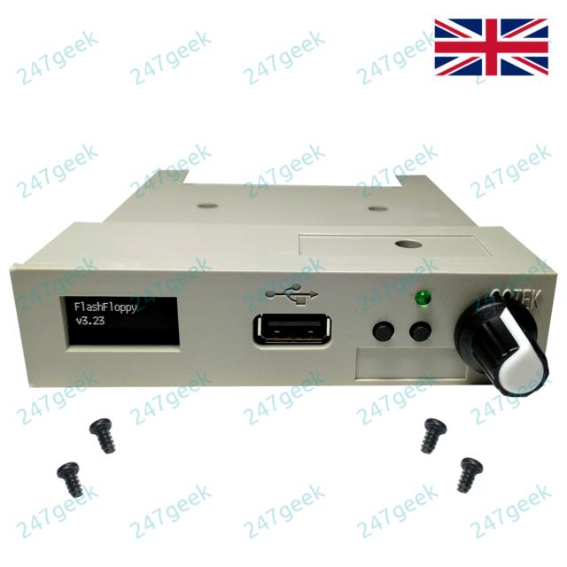 Akai CD3000XL GOTEK USB floppy emulator FlashFloppy drive OLED Rotary encoder