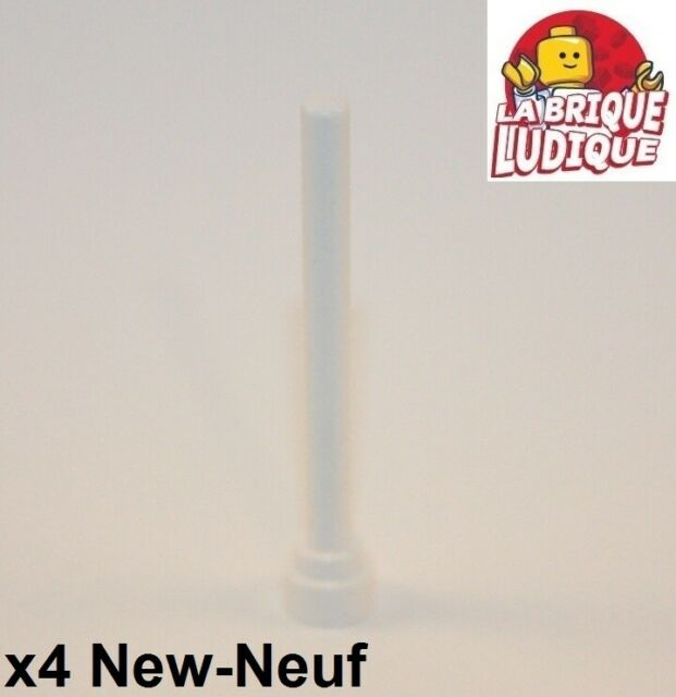 LEGO Parts NEW Flat Top 3957b WHITE Pack of 5 Antenna 1x4