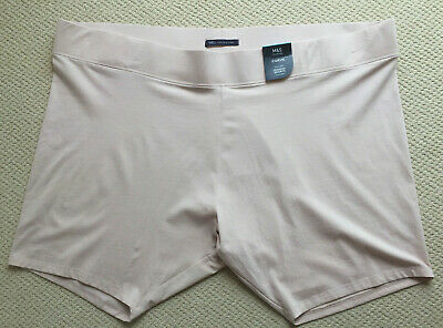 M/&S Curve Size 28 High Rise Shapewear Control Comfort Shorts with Legs Almond