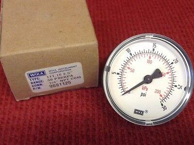 Medidor De Presión Responsible Wika Nuevo Tipo 111.10 6.3cm 30 Psi P/n: 9691125