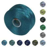 S-lon Beading Thread Mixture 12 Colors Size D - Blues And Greens, New, Free Ship