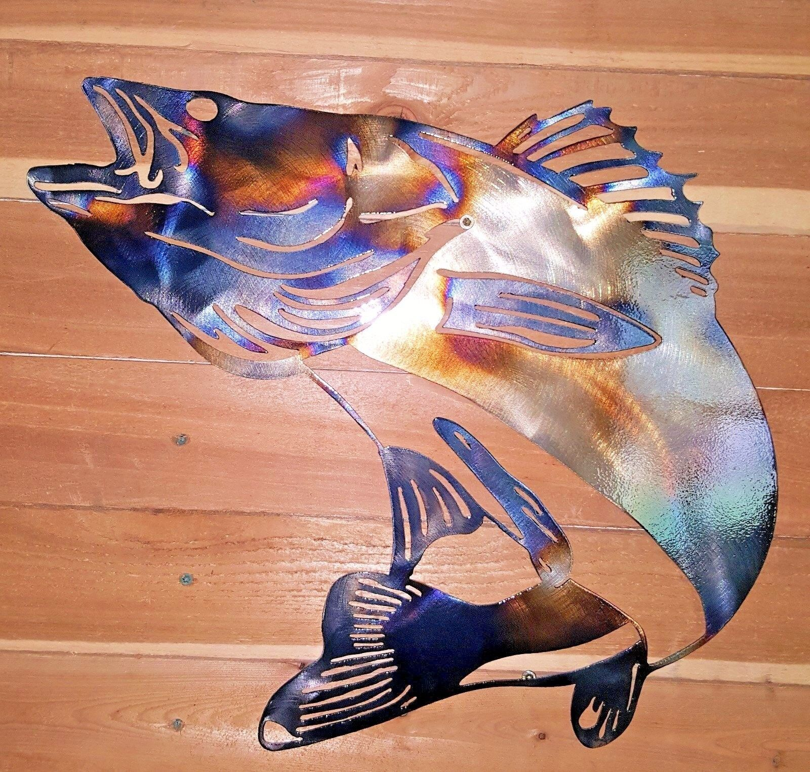 36  x 30  BIG FISH- walleye-Hand Made in Waco Texas. CNC Wall Art Decor