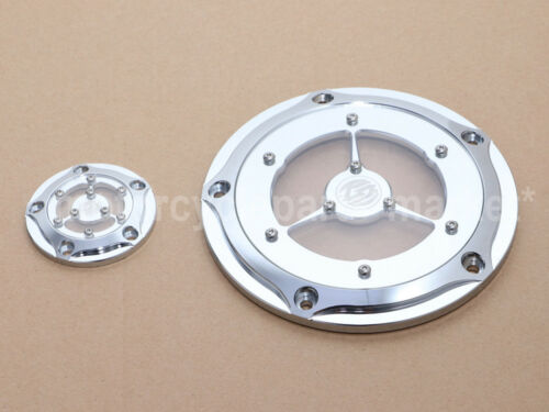 Chrome Clarity Derby Timing Timer Cover For Harley Electra Glide Road Glide FLHR