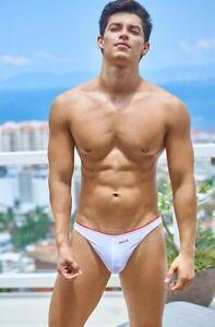 BRIEFS-BERLIN-WHITE-Men-039-s-Boys-Bikini-Briefs-strisce-Swimwear-Dietz-Delio-Gay