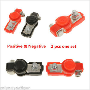 Car-Adjustable-Battery-Terminal-Clamp-Clip-Positive-Negative-Connector-Red-Black