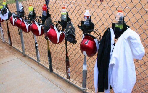 SOFTBALL BASEBALL DUGOUT ORGANIZER BAT HELMET GLOVE HOLDER THE DOM 9 colors