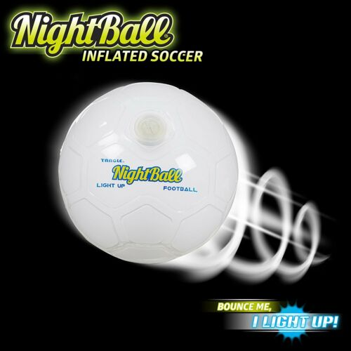 Nightball Football White Light Up Football