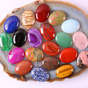 NEW Natural Gemstones Oval Cabochon Loose Beads Stone DIY Agate Jasper Turquoise