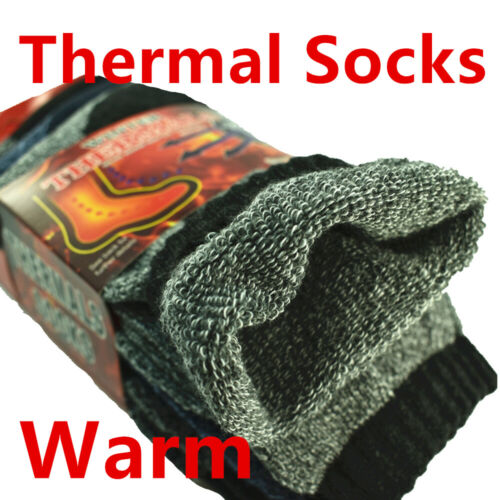 12 Pairs Winter Mens Thermal Heavy Duty Heated Super Warm Socks Boots Size 10-13