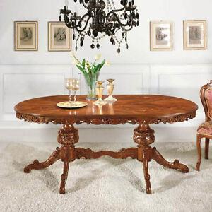 Tavolo Ovale Rococò allungabile,L200+50 P110 H80 tavoli mobili ...