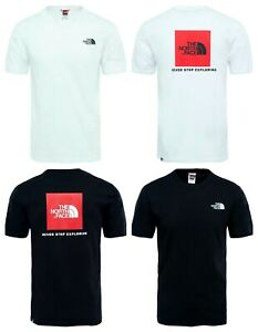 Men-039-s-The-North-Face-TNF-RedBox-T-Shirt-Printed-Crew-Neck-100-Cotton-Tee