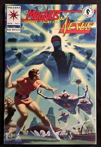 1993-MAGNUS-Robot-Fighter-amp-NEXUS-1-Valiant-Dark-Horse-Comic-NM-vtg-90s-Issue