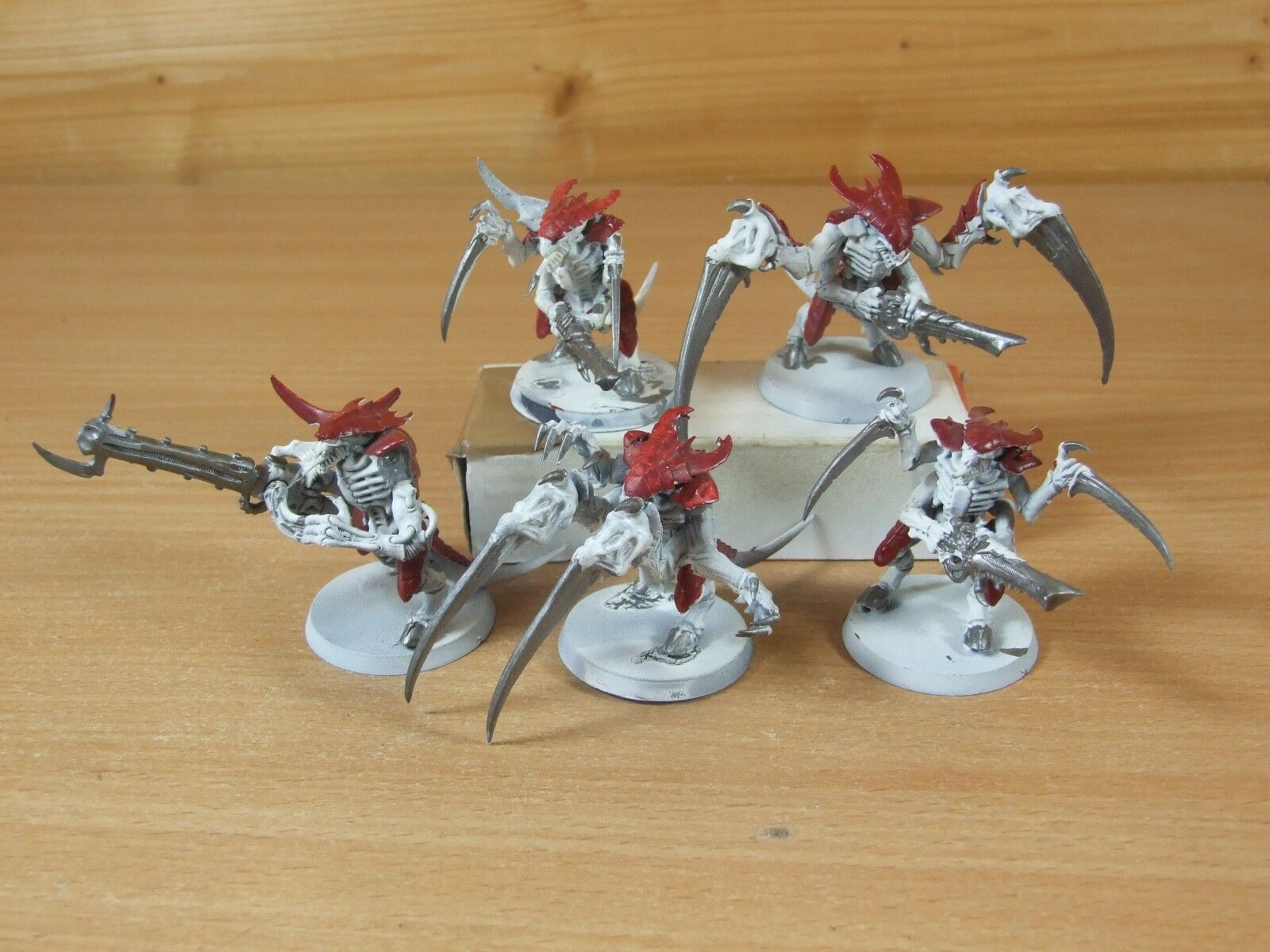 6 WARHAMMER TYRANID WARRIORS WARRIORS WARRIORS POORLY PAINTED (L-667) f5a01c