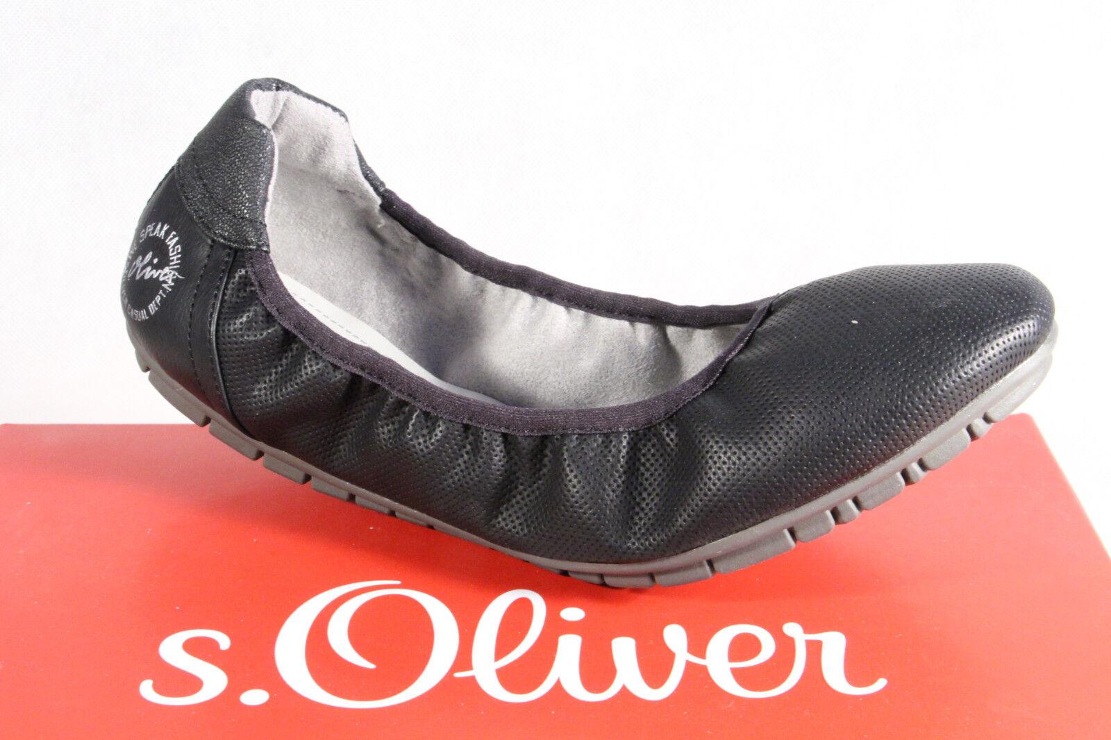 vendita calda online S.Oliver S.Oliver S.Oliver Pantofole di Ballerina scarpe da ginnastica Décolleté Nero Nuovo  edizione limitata