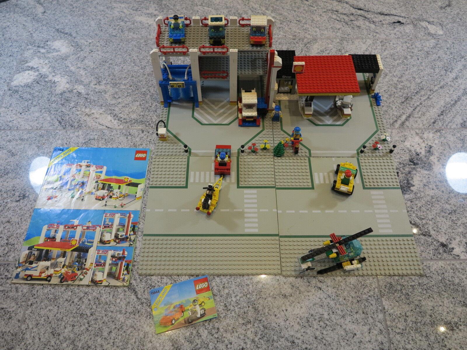 LEGO LEGOLAND 6394+6425+6644 Parkhaus Tankstelle Hubschrauber +Platten +OBA uvm.