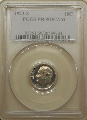 1982-S GEM PROOF ROOSEVELT DIME DEEP CAMEO SPOT FREE NO TONING LOOKS PERFECT!