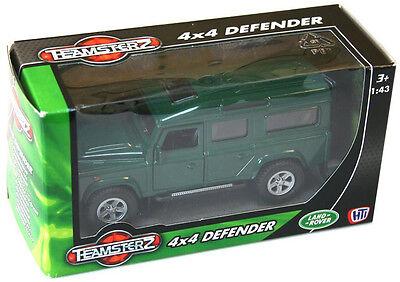 Teamsterz Land Rover 4x4 Defensor Coche Carro Jeep De Metal Fundido 1:43 Escala Juguete 3