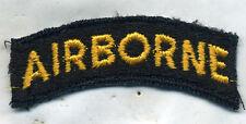 US Army Airborne Yellow Black Patch Tab Cut Edge