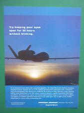 6/2003 PUB NORTHROP GRUMMAN UAV DRONE GLOBAL HAWK USAF ORIGINAL AD