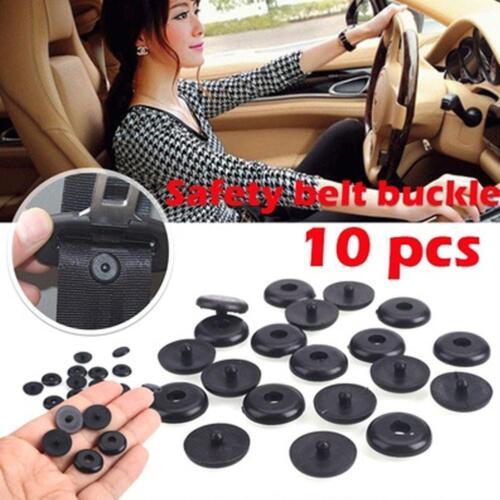 10pcs UNIVERSAL CLIP SEAT BELT STOPPER Buckle Button Fastener Safety Car /_ part