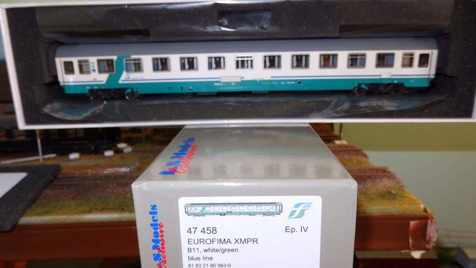 LS MODELS 47458 UIC-Z Eurofima 2 cl. XMPR FS Trenitalia, fascia obliqua green,FS