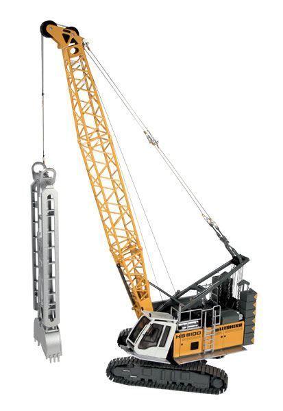 NZG 1 50 SCALE LIEBHERR HS 8100 HD HYDRAULIC CRAWLER CRANE MODEL   BN   945