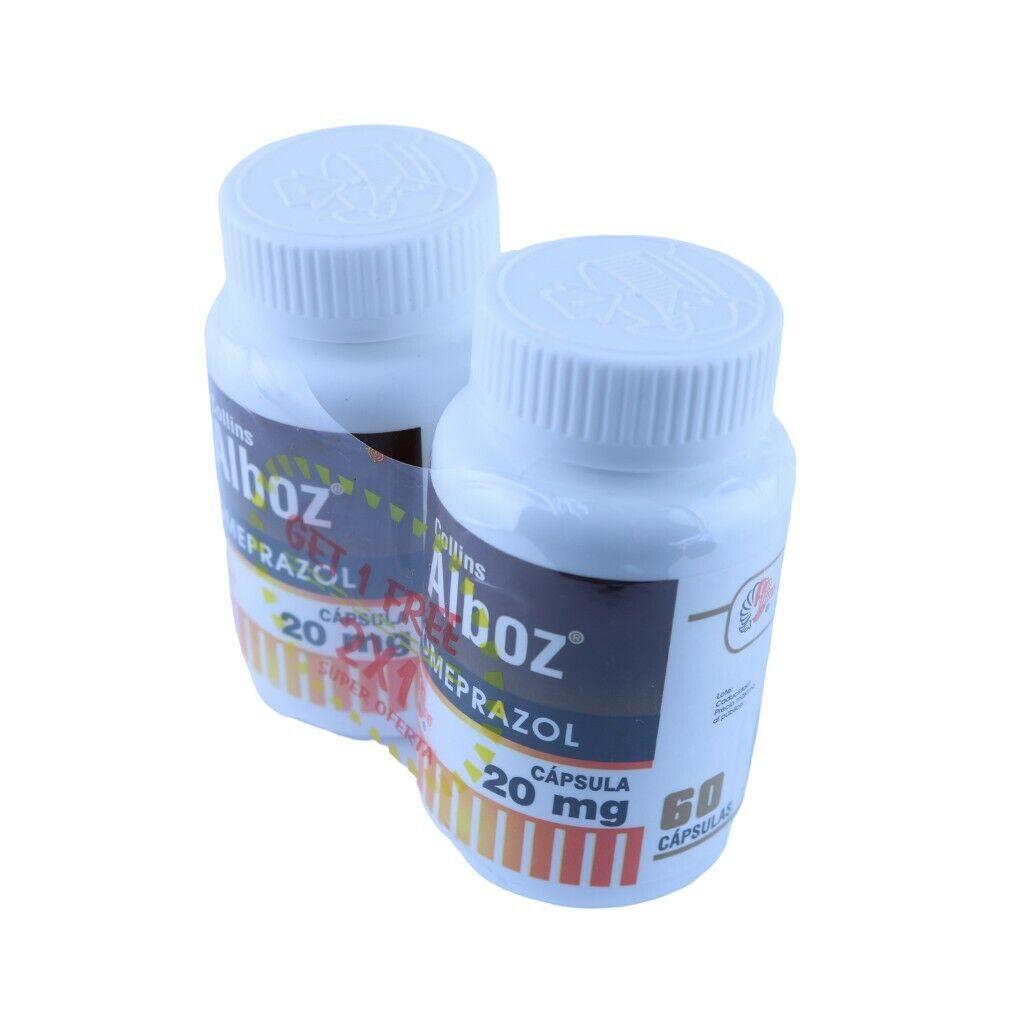 Omeprazole 20 mg OTC 120 Capsules. Acid Reflux & Heart Burn Reducer 1