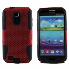 Samsung Galaxy S2 Epic 4G Touch D710 Sprint - HARD & SOFT RUBBER CASE RED MESH