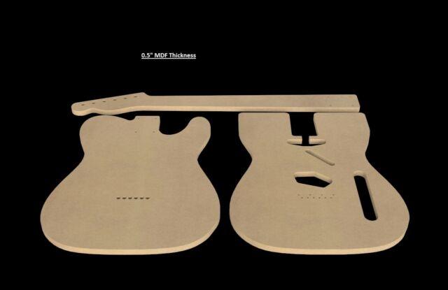 "Telecaster MDF Guitar Body and Neck Template 0.5"" thickness CNC made tele"