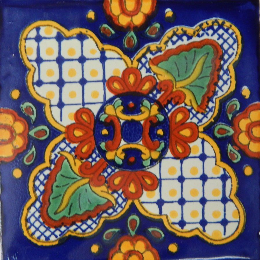 100 Handmade Ceramic Mexican Tile Folk Art 4x4