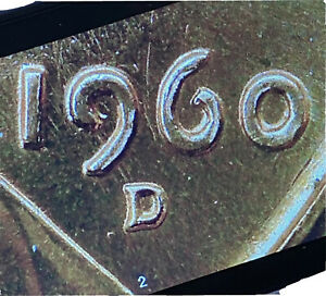1960 D Lincoln Memorial Small Cent Doubled die Obverse BU Penny MS