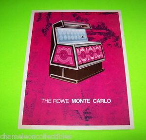 Rowe AMI TI-1 Seville Jukebox FLYER Original 1973 Phonograph Music Artwork