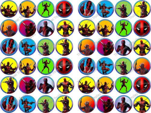 Various Deadpool Antihero Superhero Edible Rice//Eafer Paper Cupcake Toppers