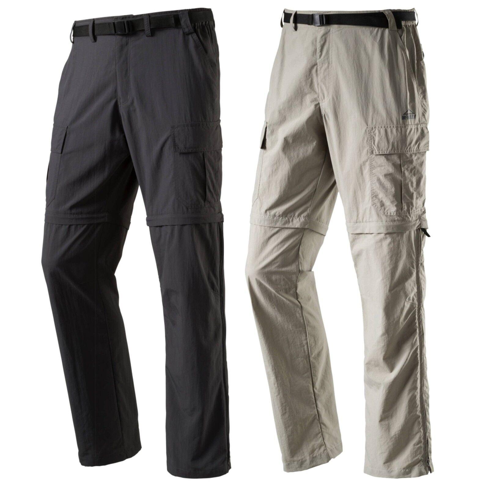 McKinley Herren Hiking Trekking Outdoor Trousers Amite Zip Off Trousers Shorts Dry Plus