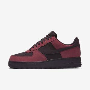 8e2cb4b780 New Men's Nike Air Force 1 Low Shoes (820266-605) Port/White/Black ...