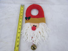 Christmas Cow Bell Door Hanger 3.35 x 14 inches w Silver