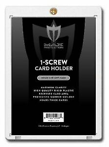 25-Max-Pro-Thick-50pt-Pro-1-Screw-Plastic-Card-Holders-for-Baseball-Football