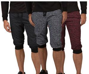 1a0fbf39f Vibes Men Black Heavy Jersey 18'' Jogger Capri Shorts Elephone Skin ...
