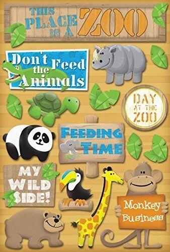 Zoo Cartulina Pegatinas-Usted Elige-Para Colección de recortes elaboración de Tarjetas Animales Mono Cebra