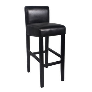 Tremendous Details About New Wood Leather Barstool 32 Bar Counter Stool Brooklyn Set Of 2 Black Gmtry Best Dining Table And Chair Ideas Images Gmtryco