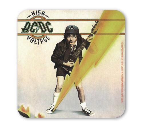 AC//DC High Voltage Coaster Untersetzer Bierdeckel Rock