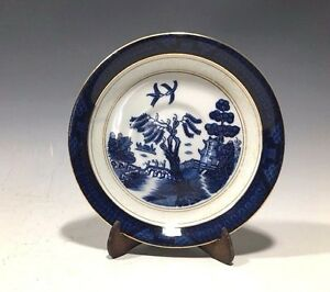 Ironstone-Ware-Blue-Willow-Pattern-Occupied-Japan-Saucer