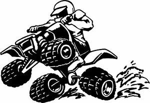 Large Racing Quad Bike Vinyl Graphic Sticker Ebay