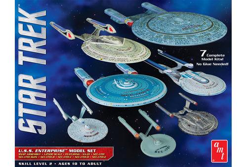 AMT954 1 2500 Star Trek USS Enterprise Box Set Snap AMT