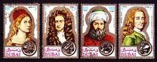 Dubai 1971 Mi.397/00 fine used c.t.o. Avicenna Ibn Sina Dürer Newton Voltaire
