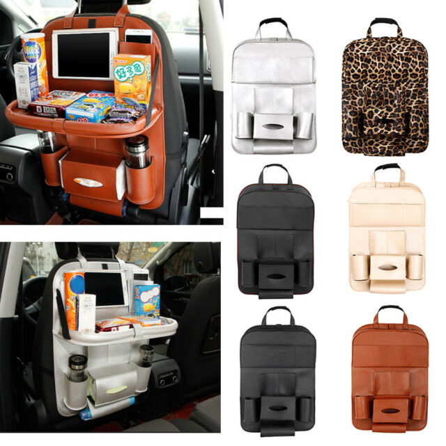 1PC Multi Pocket Car Seat Back Bag Leather Organizer Storage iPad Phone Holder
