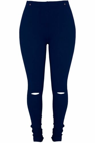 Femme Femmes Jeggings Genou Ajourées Full Length Skinny Ajusté Chaud Pantalon Leggings
