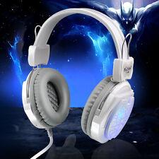 Gaming Headset USB 3.5mm LED Surround Stereo Kophörer Headphone Mit Mic Für PC