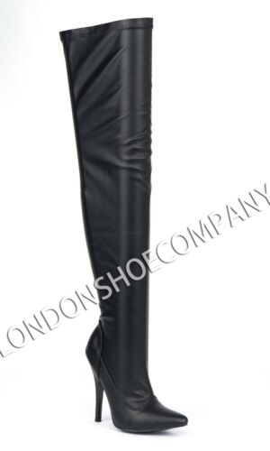 Womens Thigh High Heels Stilettos Platforms Boots Ladies Party Shoes Size