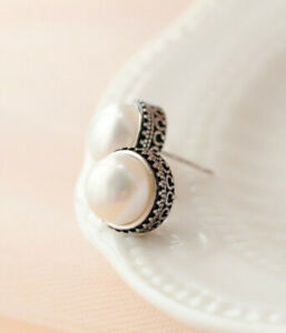 B06-Earring-Plug-Art-Deco-Style-White-Freshwater-Pearl-Sterling-Silver-925